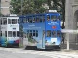 Seychelles branded tram in Hong Kong showcases the beauty