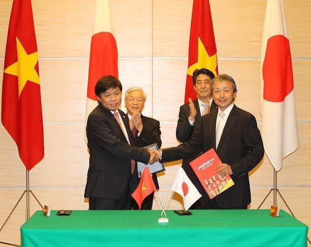 Vietjet signs strategic agreement with Japan
