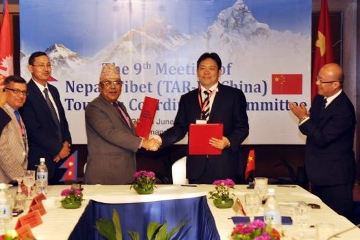 Nepal ,Tibet ( PRC) sign MoU to promote tourism ,10th JTCC meeting in TAR