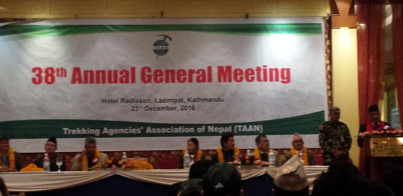 Prime Minister Dahal emphasizes on tourism development, TAAN AGM held