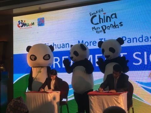 'Sichuan, More Than Pandas '- Promotional campaign in Nepal