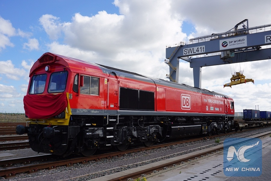 First China-bound cargo train from London to eastern Chinese city of Yiwu