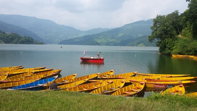 Begnas lake in Pokhara ,Nepal