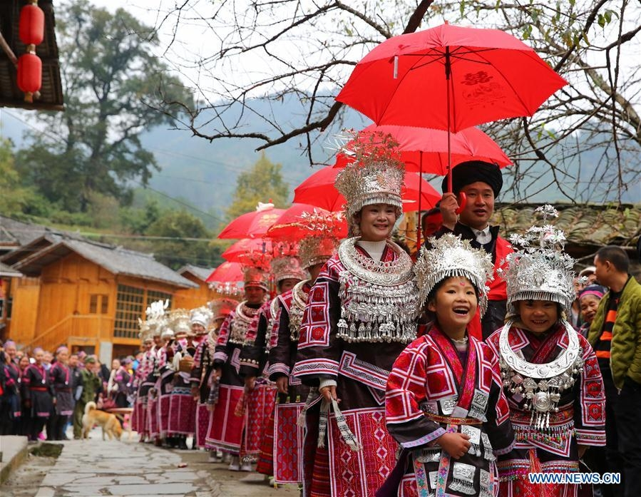 People of the Miao ethnic group in China